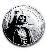 Mince - 2017 Niue 1 oz Stříbrné $ 2 Star Wars Darth Vader BU