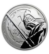 Mince :2018 Niue 1 oz Stříbro $ 2 Star Wars: Darth Vader Lightsaber BU