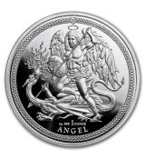 Mince - 2018  Isle of Man 1 oz  Anděl