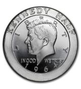 - Kennedy Half Dollar-1 Oz