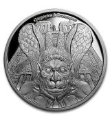 2017 Chad 1 oz Proof Silver Gargoyles a Grotesky (Spitter)